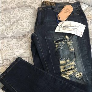Sculpting Stretch and Distressed Jeans